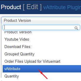 vAttribute Plugin for Virtuemart