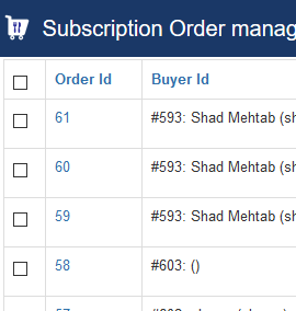 Subscription Order manager