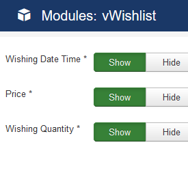 vWishlist Module Backend